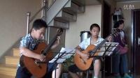 排练古典吉他二重奏-《爱的罗曼斯》