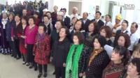 森吉德玛采编。内蒙古移动天乐合唱团。玉泉老教师合唱团联谊实况。大合唱。没有共产党就没有新中国