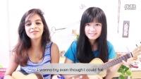 疯狂动物城Try everything ukulele弹唱 中印妹纸完美和声(张一清)