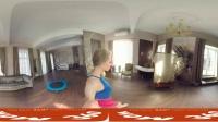 【360°VR全景】健身球与蹦蹦床 美女健身教练性感教学