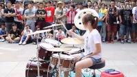 台湾街头 美女鼓手
