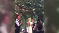 撒贝宁婚礼现场曝光 野外激情拥吻新娘李白 160506