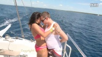 ~~~DR2nd&3rd_ Lee&Kat Dancing Bachata on Catamaran in Isla Saona Excursion===LLL
