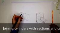 工业设计手绘几何体圆柱体正确画法教程2
