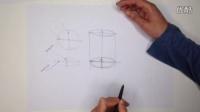 工业设计手绘几何体椭圆正常画法教程