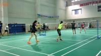杜杜与退役美女国手训练精华合集第二弹(无BGM)【羽毛球训练】