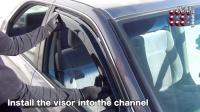 一秒学会安装轿车晴雨挡(SEDAN-INCHANNEL-4D)