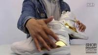Air Jordan 8 Retro 'Cigar & Champagne' Light Bone Gold AJ8 冠军套装 实物细节近