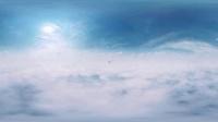 云层之上-喷气式飞机在云层 全景VR视频