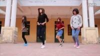 4位漂亮女生热跳鬼步舞神曲《seve》,这舞蹈真是太火了!