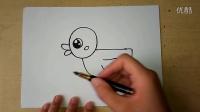 儿童画水中可爱的小鸭子幼儿绘画(3-5岁)跟李老师学画画