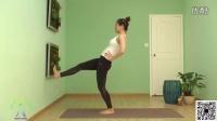 腿部线条拉伸瑜伽