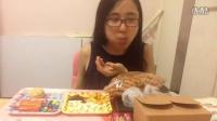中国吃播KIKI酱南京酵墅面包红豆大福红丝绒蛋糕手工饼干油枣多味馒头大连鱼片干巧克力零食品尝