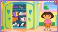 爱探险的朵拉:到朵拉的新家做客 亲子小游戏