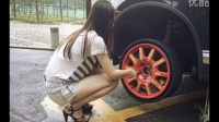 #最牛女司机#教你换备胎