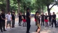 张玉龙金琳教跳第一套(西安水兵舞串烧)一拖二部分