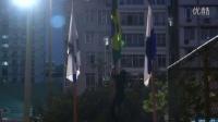 里约奥运会,巴西示威者将巴西国旗取下焚烧