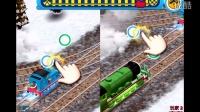 托马斯和他的朋友们火车比赛第2期:提茅斯的冬季地图2号车站 宝宝巴士宝宝认交通工具 4399亲子互动小游戏