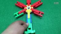 乐高积木视频 拼装飞机风车跷跷板 小猪佩奇