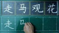 秋季练字5(成语)——走马观花