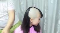 Lovely girl bald headshave  1-6