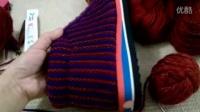 【七针坊】大人毛线鞋编织视频-太阳花中邦棉鞋(上)_标清