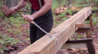 Our timber frame cabin Part IV- Carving floor joist pockets