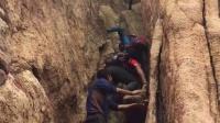 2016年9月16日鞍山 行军蚁精英群攀爬千山仙霞关裂缝 手机QQ视频_20160916172223