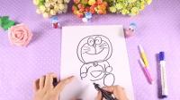 兔小卡星球   教你简笔画出哆啦A梦