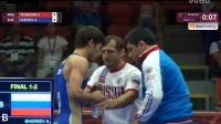 少年自由式摔跤58KG决赛亚美尼亚VS俄罗斯