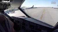 超美驾驶舱视角 空客A320莫斯科机场起飞