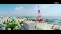 航拍 马尔代夫 蓝色大海 岛屿风光