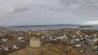 航拍 加拿大新不伦瑞克省圣约翰 城市风光