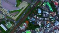 航拍 日本东京 俯视 城市风光