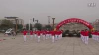 天合利酒业健身队在黄骅市第二届花卉展演出《快乐健身操》《开门红》等节目