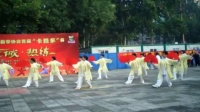 石太公园站表演杨丽太极扇