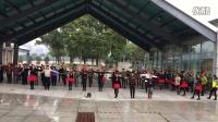 西安张玉龙水兵舞团合练(团体水兵舞)百人方阵