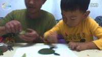 [傲仔小天地]亲子手工制作第5期树叶手工制作小乌龟,亲子乐园,亲子游戏