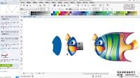 平面设计教程 coreldraw x7 cdr教程 跃动的金鱼 cdr软件