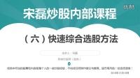 宋磊炒股内部课程视频(六)快速综合选股方法(快速选股)