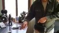 山东济宁嘉祥县考察鸵鸟及鸸鹋场,先催眠一只带着眼罩的观赏黑鸡