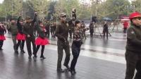 西安张玉龙水兵舞与北京冬冬水兵舞互动二套(北京水兵舞)20161021