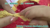 236--条纹长袖衫(3)袖口和领口的织法  猫猫编织教程