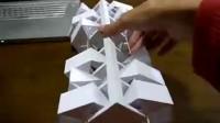 有趣的动力学纸工艺雕塑_标清