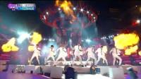 [高清现场] 141231 MBC年末特辑 防弹少年团 & Boyfriend --Danger+Witch 现场版