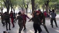 唐大明宫张玉龙水兵舞培训基地练习第二套(北京水兵舞)20161112