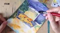 水彩风景1—红叶公园—朱敏光——手绘帮