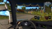 【斑条豌豆】欧洲卡车模拟2 第一次用方向盘玩手动挡我是懵比的