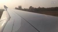 A330-300北京起飞舷窗航拍