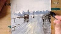 水彩风景2—船舶码头—朱敏光——手绘帮